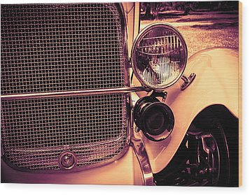 Headlight And Horn Wood Print