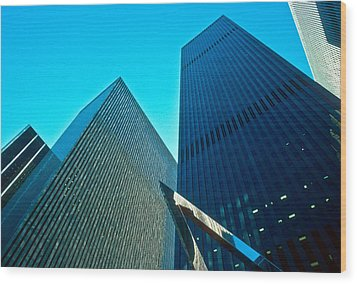 Headquarters In Midtown Manhattan Wood Print