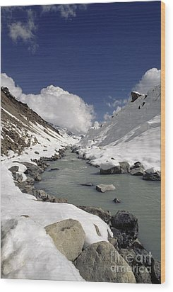 Headwaters Of Barun Khola - Makalu Base Camp Wood Print by Craig Lovell