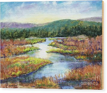 Headwaters Of Blackwater Wood Print by Bruce Schrader
