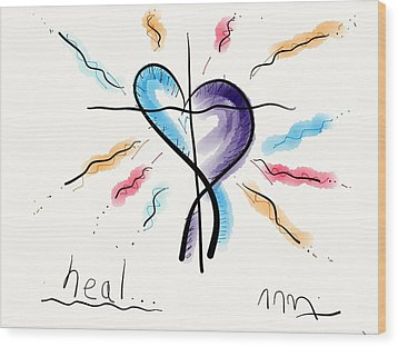Heal... Wood Print by Jason Nicholas