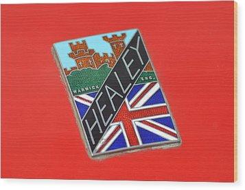 Healey Silverstone D Type Wood Print by Frozen in Time Fine Art Photography