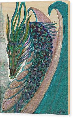 Healing Dragon Wood Print by Michele Avanti