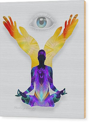 Healing Energy Wood Print by Gayle Odsather