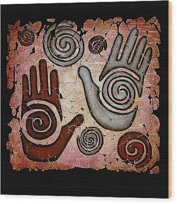 Healing Hands Fresco Wood Print