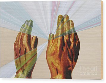 Healing Hands Wood Print by Linda Matlow