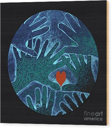 Healing Hands Wood Print by Patricia Januszkiewicz