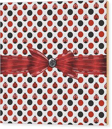 Healing Ladybugs Wood Print by Debra  Miller