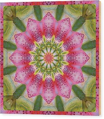 Healing Mandala 25 Wood Print
