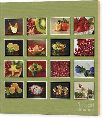 Healthy International Fruits Collection Wood Print by Inspired Nature Photography Fine Art Photography