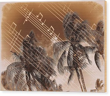 Hear The Music Wood Print