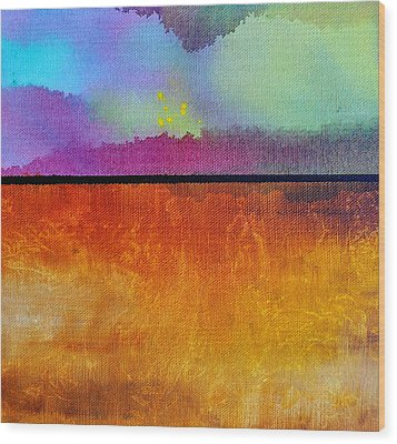 Wood Print featuring the painting Heart Call by Christine Ricker Brandt