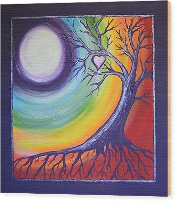 Heart Chakra Meditation Wood Print