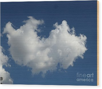 Heart Clouds Bell Rock Vortex Wood Print
