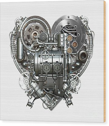 Heart Wood Print by Diuno Ashlee