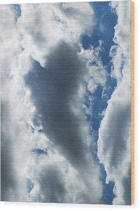 Heart I Wood Print by Anna Villarreal Garbis