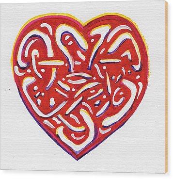 Heart Intertwined Wood Print