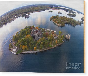 Heart Island George Boldt Castle Wood Print by Tony Cooper