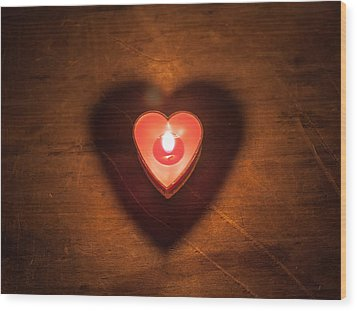 Wood Print featuring the photograph Heart Light by Aaron Aldrich