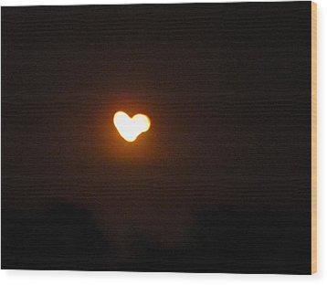 Heart Lightning Wood Print by Cim Paddock