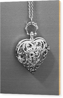 Wood Print featuring the photograph Heart Locket  by Alohi Fujimoto