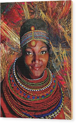 Heart Of Africa Wood Print by Michael Durst