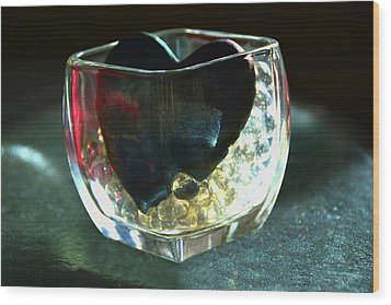 Heart Of Glass  #3  Wood Print