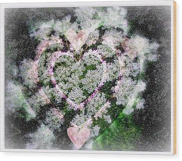 Heart Of Hearts Wood Print by Kay Novy