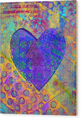 Heart Of Hearts Series - Compassion Wood Print by Moon Stumpp