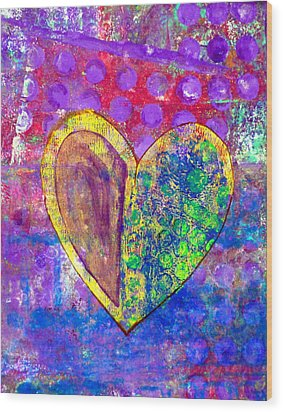Heart Of Hearts Series - Discovery Wood Print by Moon Stumpp