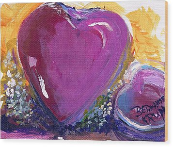 Heart Of Love Wood Print by Bernadette Krupa