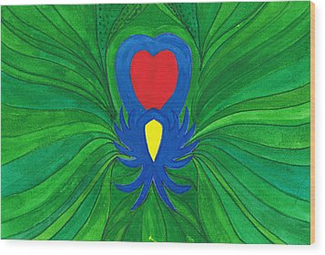 Heart Of Love.mexico Wood Print