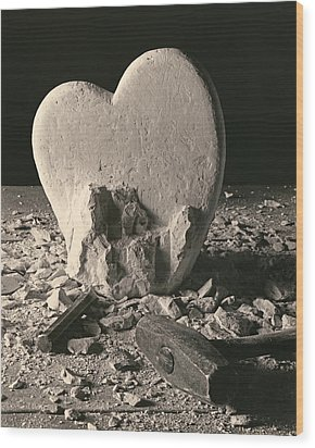 Heart Of Stone C1978 Wood Print by Paul Ashby