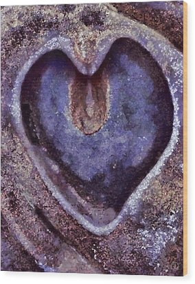 Heart Of Stone Wood Print by Gun Legler
