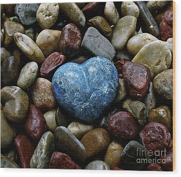 Heart Of Stone Wood Print by Lisa  Telquist