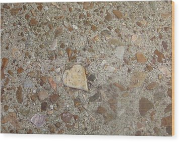 Wood Print featuring the photograph Heart Of Stone by Fortunate Findings Shirley Dickerson