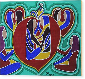 Heart Of The Ages Wood Print by Barbara St Jean