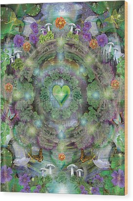 Heart Of The Forest Wood Print by Alixandra Mullins