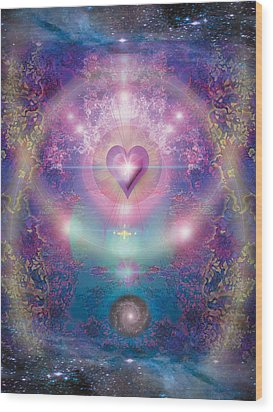 Heart Of The Universe Wood Print by Alixandra Mullins
