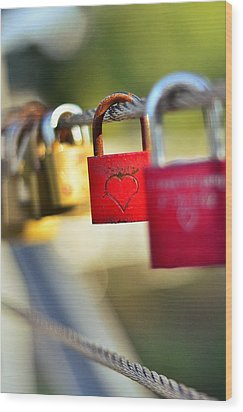 Heart On The Padlock Wood Print by Gynt