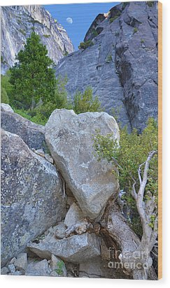 Heart Rock In Yosemite Wood Print