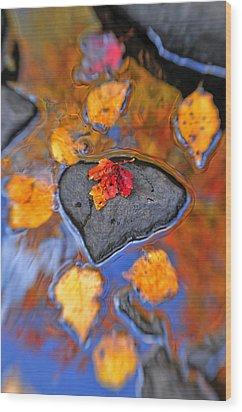 Heart Rock Reflections Wood Print