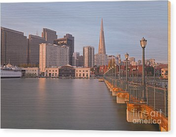 Heart San Francisco Wood Print by Jonathan Nguyen