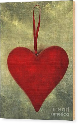 Heart Shape Wood Print by Bernard Jaubert