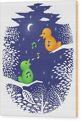 Heart Song Wood Print