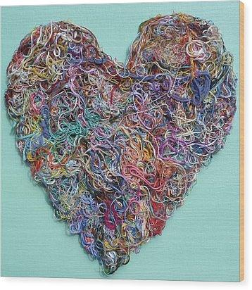 Heart Strings Wood Print
