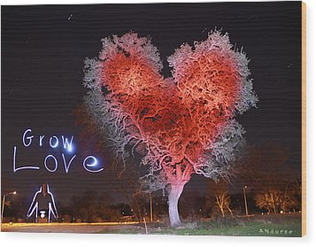 Grow Love Wood Print