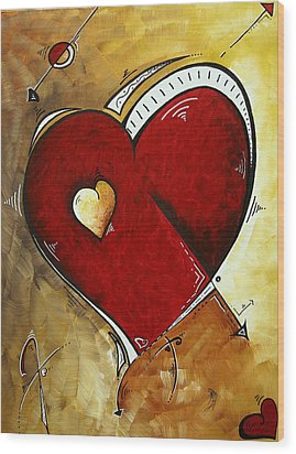 Heartbeat By Madart Wood Print by Megan Duncanson