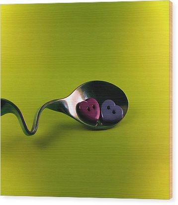 Heartbeat Wood Print by Vesna Viden