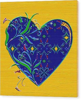 Heartbloom Wood Print by RC deWinter